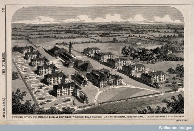 V0014594 Asylum for Imbecile Poor, proposed for Leavesden Woodside, n