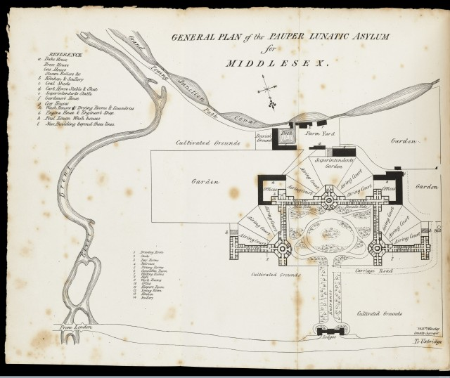 L0051389 General Plan of the Pauper Lunatic Asylum for Middlesex