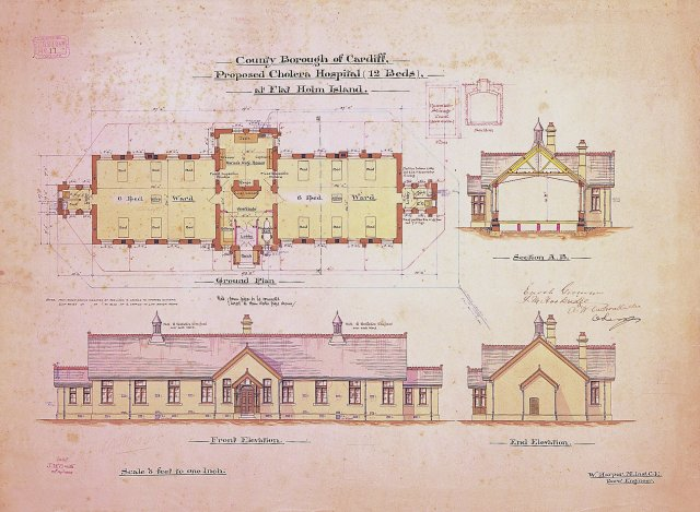 Flat_Holm_isolation_hospital_plan_April_1895