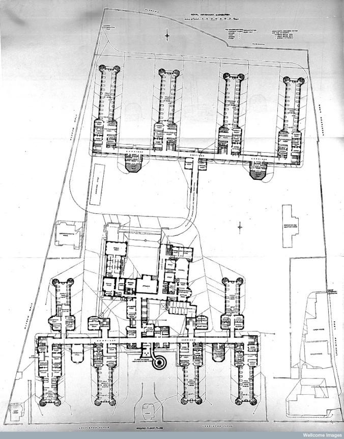 L0011802 Plan of Royal Infirmary, Edinburgh, 1893.