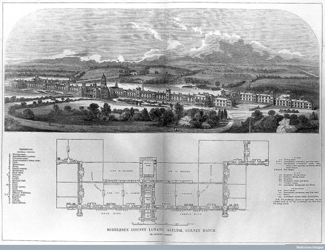 L0012311 Middlesex County Lunatic Asylum, Colney Hatch, Southgate, Mi
