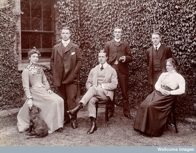L0027376 Claybury Asylum, Woodford, Essex: six members of staff, and