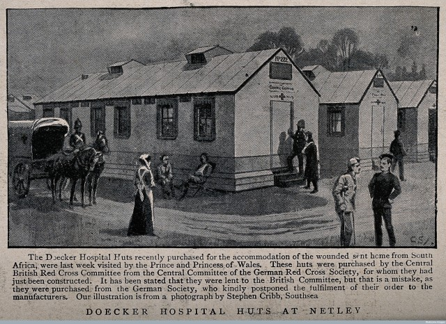 V0015642 Boer War: the Doecker Hospital Huts at Netley with patients