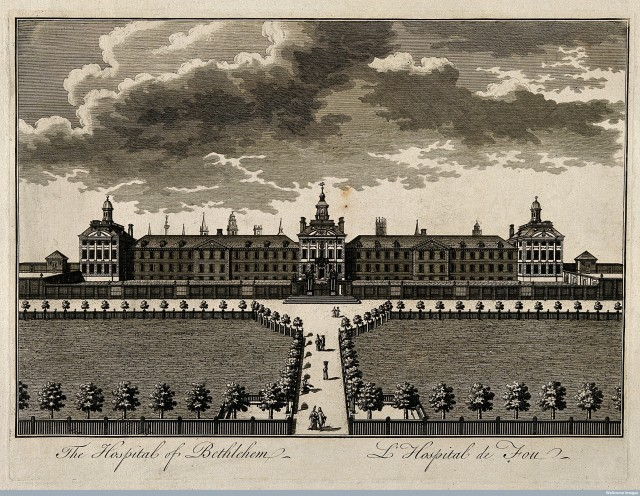 V0013179 The Hospital of Bethlem [Bedlam] at Moorfields, London: seen