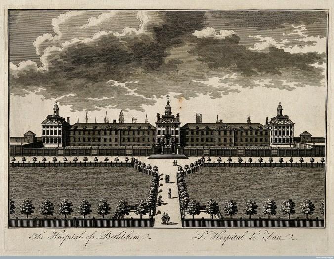 V0013179 The Hospital of Bethlem [Bedlam] at Moorfields, London: seen