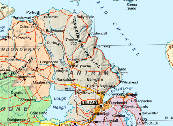 Map Of Northern Ireland Counties And Towns.Northern Ireland Historic Hospitals